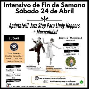 Intensivo de Jazz Step para Lindy Hoppers + Musicalidad. @ Blanco y Negro Studio